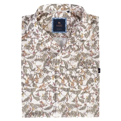Magee 1866 Cormullin Monkey Print Short Sleeve Tailored Fit Shirt