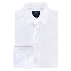 Magee 1866 White Doonan Tailored Fit Formal Shirt