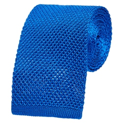 Royal Blue Knitted Silk Tie