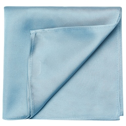 Magee 1866 Silver Blue Satin Silk Pocket Square