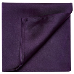 Magee 1866 Purple Satin Silk Pocket Square
