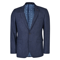 Navy Salt & Pepper Donegal Tweed 3-Piece Tailored Fit Suit