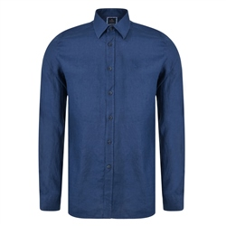 Magee 1866 Irish Made - Indigo Linen Dunross Tailored Fit Shirt