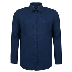 Magee 1866 Irish Made - Indigo Linen Kilbeg Classic Fit Shirt