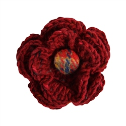 Magee 1866 Red Handknits Flower Corsage