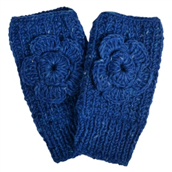 Magee 1866 Blue Handknit Rose Warmer