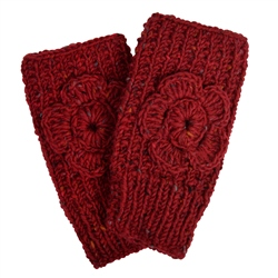 Magee 1866 Red Handknit Rose Warmer