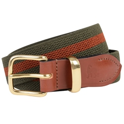 Magee 1866 Men's Green & Orange Bredon Handmade Belt