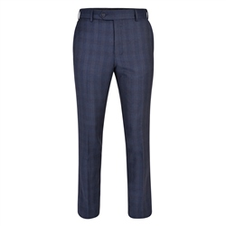 Magee 1866 Navy Checked 3-Piece Tailored Fit Trouser
