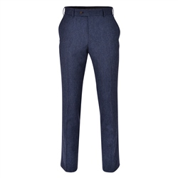 Blue Donegal Tweed 3-Piece Tailored Fit Suit Trouser