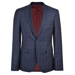 Magee 1866 Navy Checked 3-Piece Tailored Fit Jacket