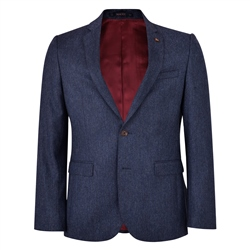 Blue Donegal Tweed 3-Piece Tailored Fit Suit Jacket