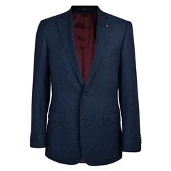 Magee 1866 Navy Herringbone Donegal Tweed Classic Fit Jacket