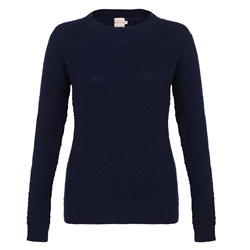 Magee 1866 Navy Waffle Crew Neck Sweater
