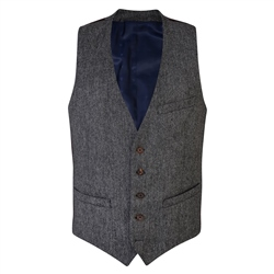 Grey Salt & Pepper Donegal Tweed 3-Piece Tailored Fit Suit