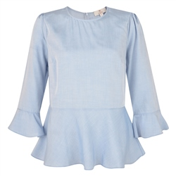 Magee 1866 Blue Anne 3/4 Length Sleeve Top