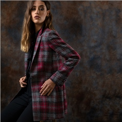 Magee 1866 Pink Moyne Checked Donegal Tweed Jacket