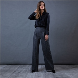 Magee 1866 Grey Willow Wide Leg Trousers
