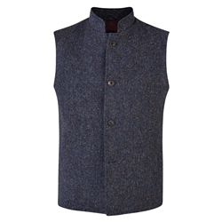 Magee 1866 Navy Donegal Tween Cavan Tailored Fit Gilet