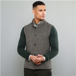 Magee 1866 Oat Cavan Donegal Tweed Tailored Fit Gilet