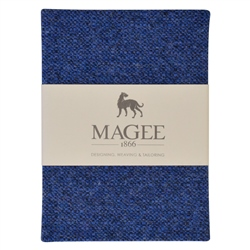 Blue Donegal Tweed Notebook A6
