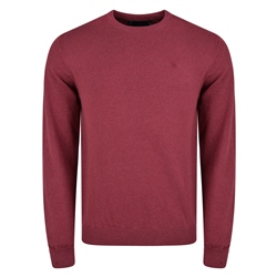 Magee 1866 Raspberry Cotton Crew-Neck Jumper