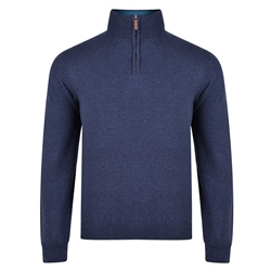 Magee 1866 Navy Carn Cotton 1/4 Zip Jumper