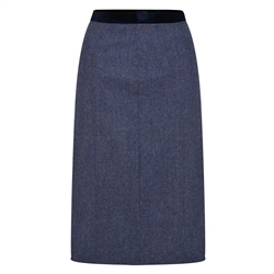 Magee 1866 Navy Dana Herringbone Donegal Tweed Skirt