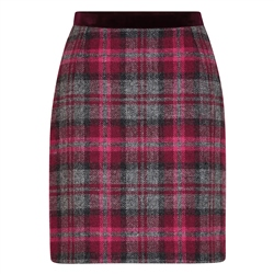 Magee 1866 Pink Carey Donegal Tweed Skirt
