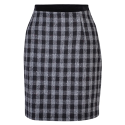 Magee 1866 Black & White Carey Salt & Pepper Donegal Tweed Skirt