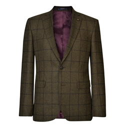 Magee 1866 Green Country Checked Tailored Fit Jacket