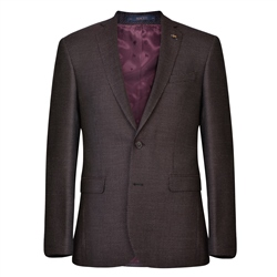 Magee 1866 Mulberry Dot Weave Tailored Fit Jacket