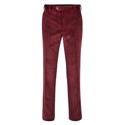 Magee 1866 Maroon Corduroy Classic Fit Trouser
