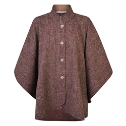 Magee 1866 Camel & Mulberry Sorcha Donegal Tweed Cape