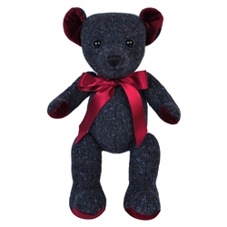Navy Donegal Tweed Teddy Bear - Large