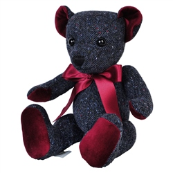 Magee 1866 Navy Donegal Tweed Teddy Bear - Large