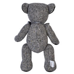 Grey Donegal Tweed Teddy Bear - Large