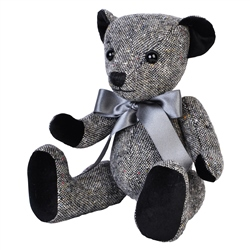 Magee 1866 Grey Donegal Tweed Teddy Bear - Large