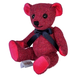Magee 1866 Pink Donegal Tweed Teddy Bear - Small