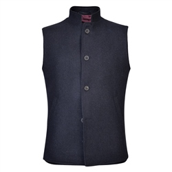 Magee 1866 Navy Cavan Herringbone Donegal Tweed Tailored Fit Gilet