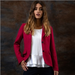 Magee 1866 Hot Pink Lily Herringbone Donegal Tweed Jacket
