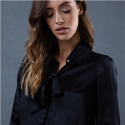Magee 1866 Black Mila Silk Blouse