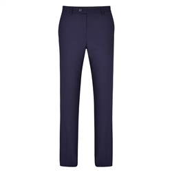 Magee 1866 Navy Swilly Plain Front Tailored Fit Trousers