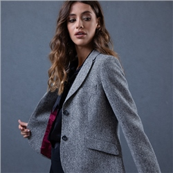 Grey Lily Salt & Pepper Donegal Tweed Jacket