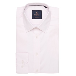 Magee 1866 Pink Altahan Jacquard Tailored Fit Shirt
