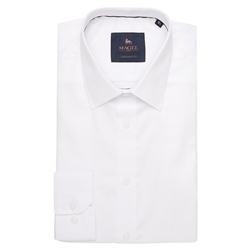 Magee 1866 White Altahan Tailored Fit Shirt