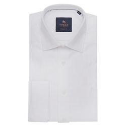 White Double Cuff Formal Classic Fit Shirt