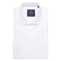 Magee 1866 White Formal Dress Collar Classic Fit Shirt