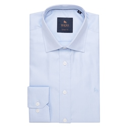 Magee 1866 Blue Formal Dress Collar Classic Fit Shirt