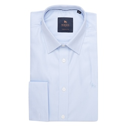 Magee 1866 Blue Formal Double Cuff Tailored Fit Shirt